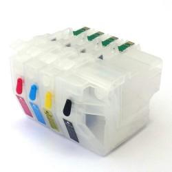 Kompatibilní plnitelné cartridge Brother LC 980 + 4x100 ml inkoustu
